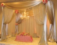 Wedding Reception decor sweetheart table canopy the finishing touch wedding Design