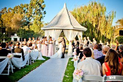 Wedding Ceremony Grand Tradition Gazebo cream and blush pink 3