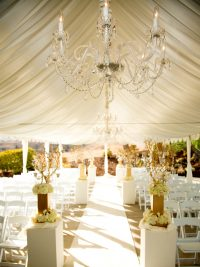 Wedding Ceremony cream and champagne2