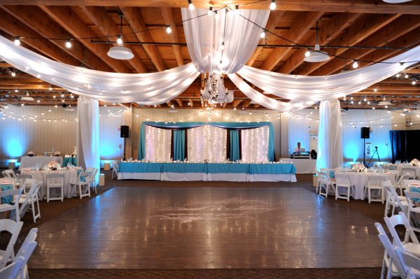 Wedding Reception strawberry farms turquoise and blush pink 3