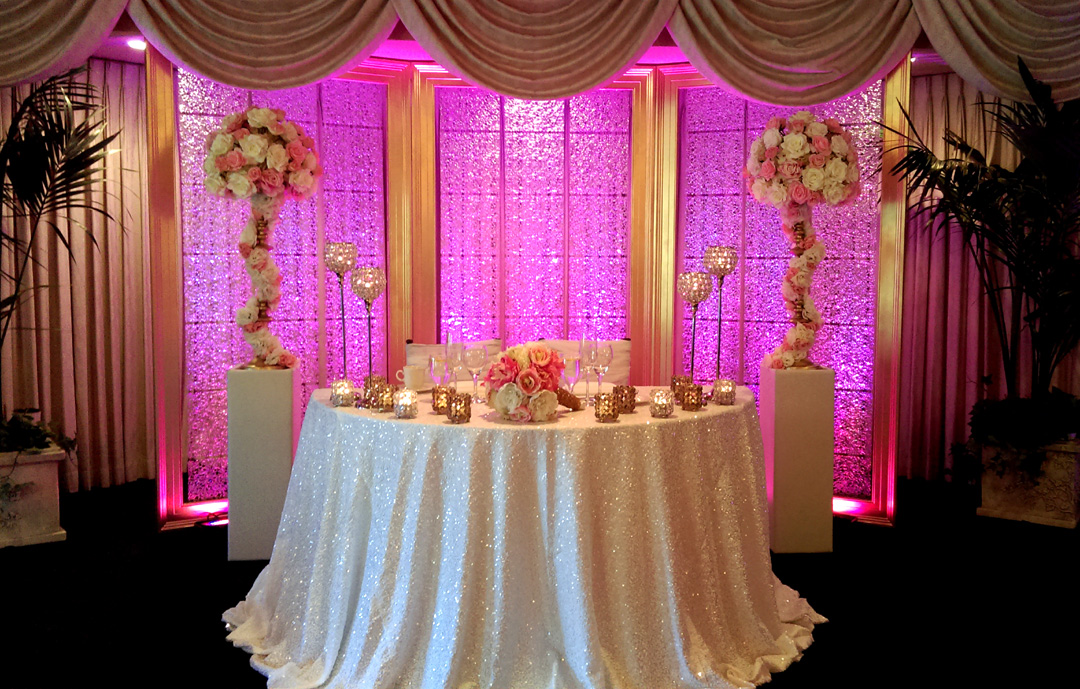 The Finishing Touch Wedding design Sweetheart table background decor